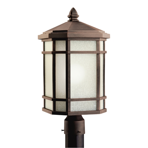 Kichler Lighting Kichler Post Light with White Glass in Prairie Rock Finish 9902PR