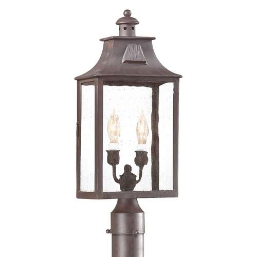 Troy Lighting Post Light with Clear Glass in Old Bronze Finish PCD9003OBZ
