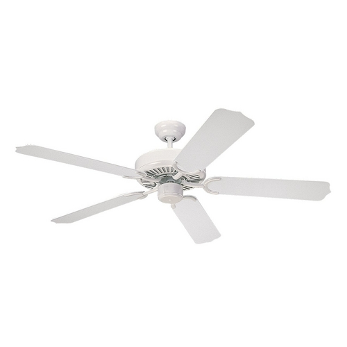 Monte Carlo Fans Ceiling Fan Without Light in White Finish 5WF52WH