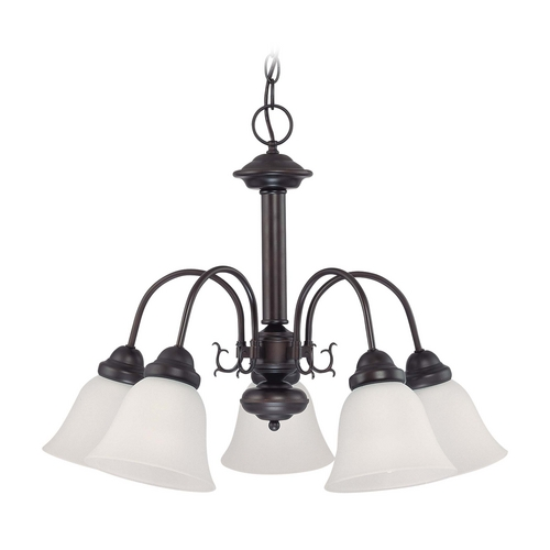Nuvo Lighting Chandelier with Beige / Cream Glass in Mahogany Bronze Finish 60/3331