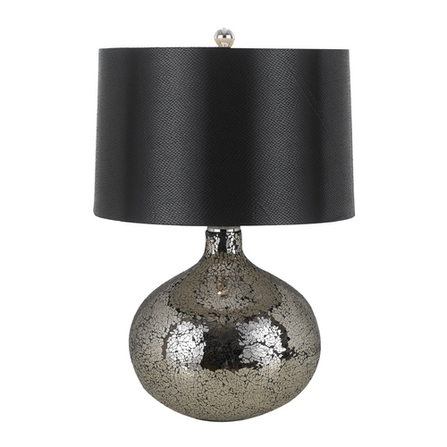 AF Lighting Modern Table Lamp with Black Shade in Mosaic Finish 8460-TL