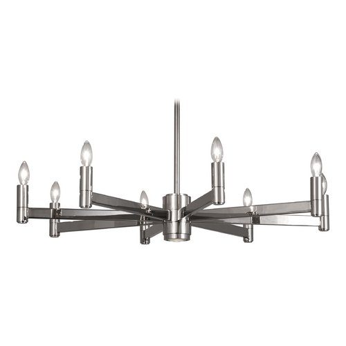Robert Abbey Lighting Robert Abbey Delany 8-Light Chandelier in Polished Nickel S4500
