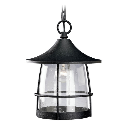 Progress Lighting Progress Outdoor Hanging Light with Clear Glass in Gilded Iron Finish P5563-71