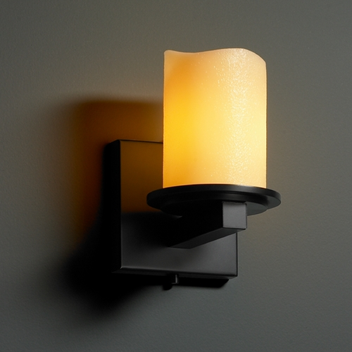 Justice Design Group Justice Design Group Candlearia Collection Sconce CNDL-8771-14-AMBR-MBLK