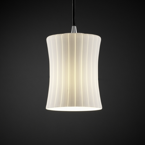 Justice Design Group Justice Design Group Fusion Collection Mini-Pendant Light FSN-8815-60-RBON-CROM