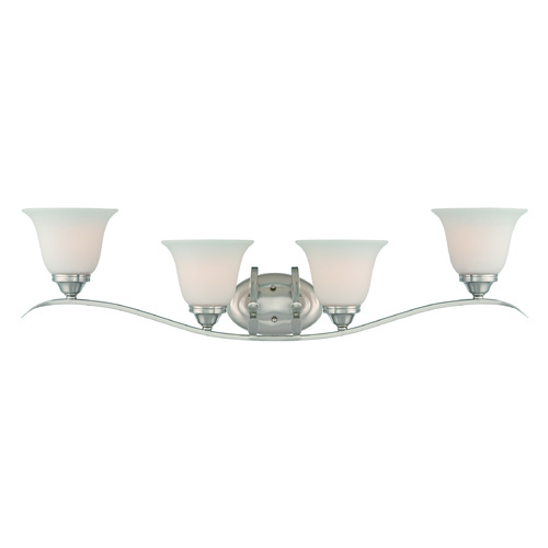 Craftmade Lighting Craftmade Mckinney Brushed Polished Nickel Bathroom Light 29004-BNK