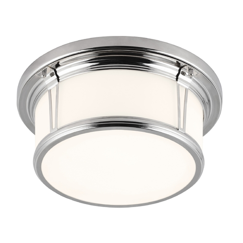 Feiss Lighting Feiss Lighting Woodward Polished Nickel Flushmount Light FM388PN