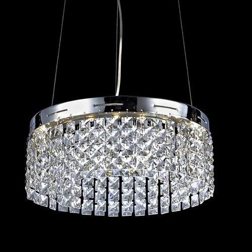 Lite Source Lighting Lite Source Alecia Chrome LED Pendant Light EL-10121
