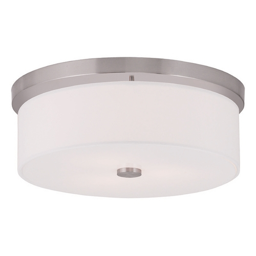Livex Lighting Livex Lighting Meridian Brushed Nickel Flushmount Light 50864-91
