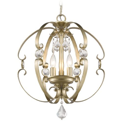 Golden Lighting Golden Lighting Ella White Gold Pendant Light 1323-3P WG