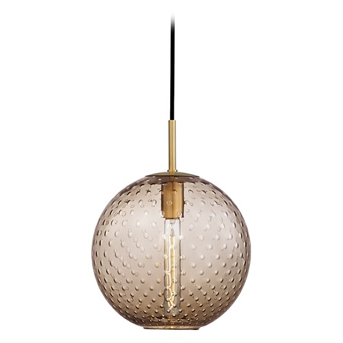 Hudson Valley Lighting Hudson Valley Lighting Rousseau Aged Brass Pendant Light with Globe Shade 2010-AGB-BZ