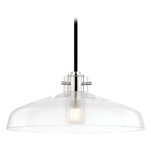 Mitzi by Hudson Valley Transitional LED Pendant Polished Nickel 12-inch Wide by Hudson Valley H128701A-PN