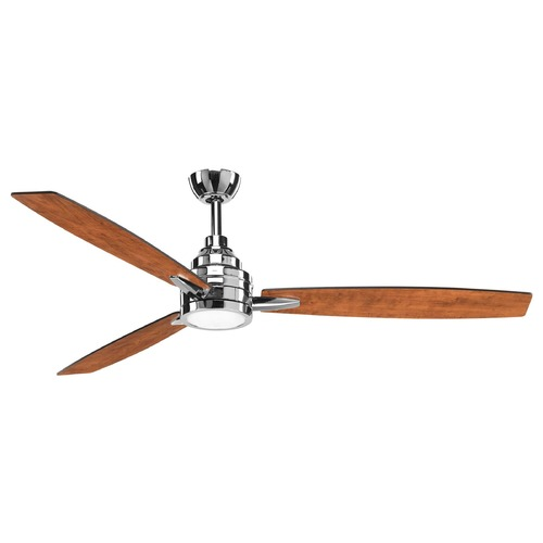 Progress Lighting Progress Lighting Gaze Polished Chrome LED Ceiling Fan with Light 3000K 1400LM P2554-1530K