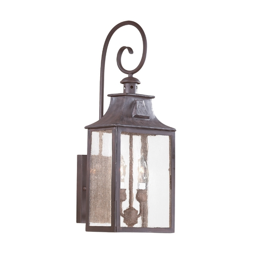 Troy Lighting Outdoor Wall Light with Clear Glass in Old Bronze Finish BCD9002OBZ