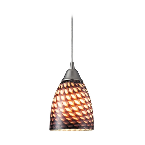 Elk Lighting Modern Mini-Pendant Light with Art Glass 416-1C