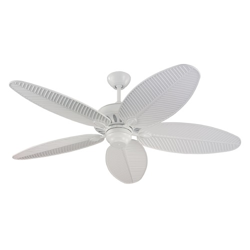 Monte Carlo Fans Outdoor Ceiling Fan Without Light in White Finish 5CU52WH