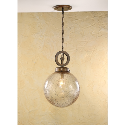 Lustrarte Lighting Pendant Light with Clear Glass in Earth Finish 244-00-4489