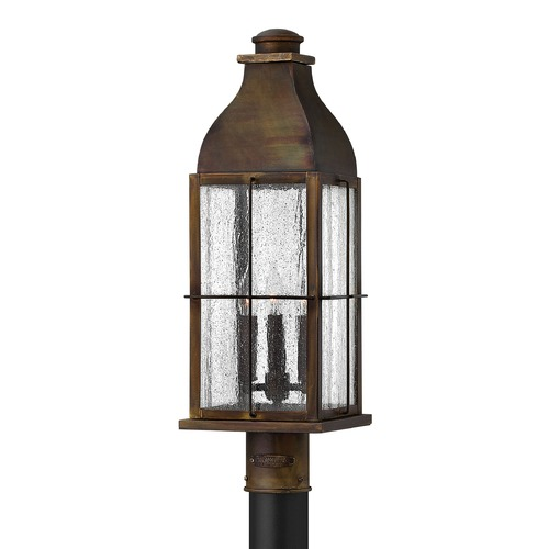Hinkley Lighting Post Light with Clear Glass in Sienna Finish 2041SN
