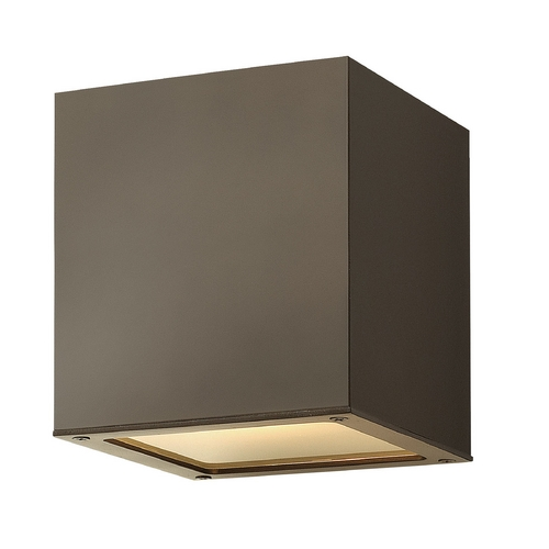 Hinkley Lighting Modern Close To Ceiling Light with White Glass in Bronze Finish 1763BZ-GU24
