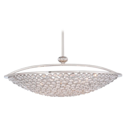 Metropolitan Lighting Crystal Pendant Light in Polished Nickel Finish - 10-Lights N6758-613