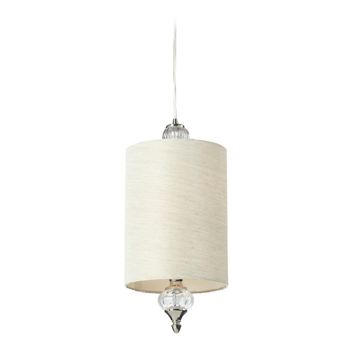 Elk Lighting Mini-Pendant Light with White Shade - Includes Recessed Adapter Kit 31302/1-LA