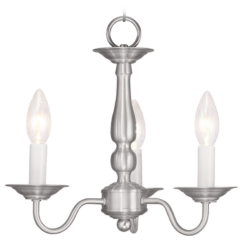 Livex Lighting Livex Lighting Williamsburg Brushed Nickel Mini-Chandelier 5009-91