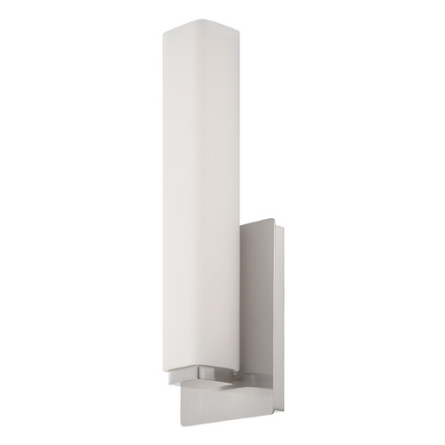 Modern Forms by WAC Lighting Modern Forms Vogue Brushed Nickel LED Sconce WS-3115-BN