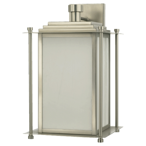 Quorum Lighting Quorum Lighting Satin Nickel Outdoor Wall Light 7950-4-65