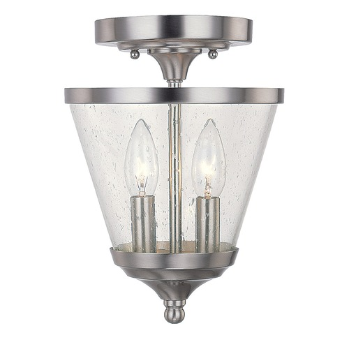 Capital Lighting Capital Lighting Stanton Brushed Nickel Mini-Pendant Light with Empire Shade 4032BN-236