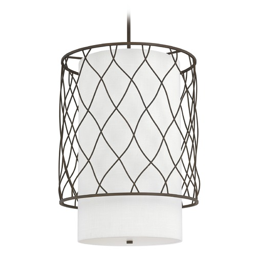 Capital Lighting Capital Lighting Sawyer Burnished Bronze Pendant Light with Cylindrical Shade 4832BB-615