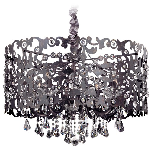 Allegri Lighting Bizet 8 Light Chandelier w/ Swarovski Elements Crystal w/ Black Pearl 10249-007-SE001