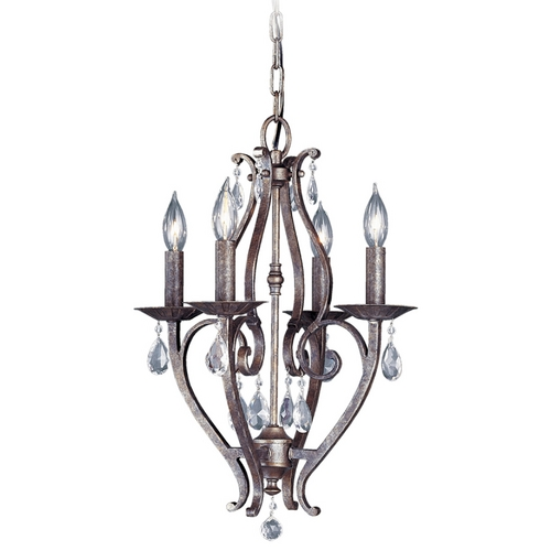 Feiss Lighting Crystal Chandelier in Peruvian Bronze Finish F1800/4PBR