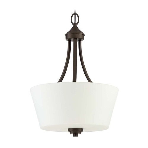 Craftmade Lighting Craftmade Lighting Grace Espresso Pendant Light with Drum Shade 41943-ESP