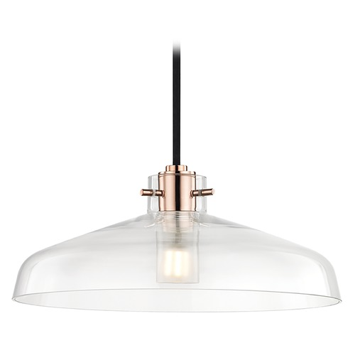 Mitzi by Hudson Valley Transitional LED Pendant Light Copper 12-inch Wide by Hudson Valley H128701A-POC