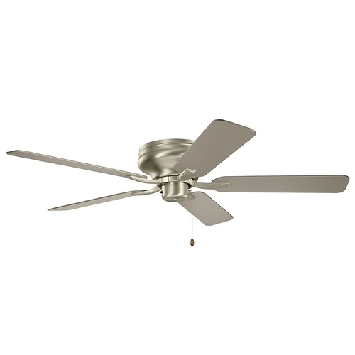Kichler Lighting Basics Pro Legacy Brushed Nickel 52-Inch Ceiling Fan without Light 330020NI