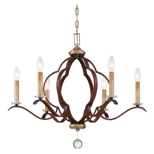 Minka Lavery Minka Lavery Ava Libertine Pale Gold with Distressed Bronze Chandelier 4836-690
