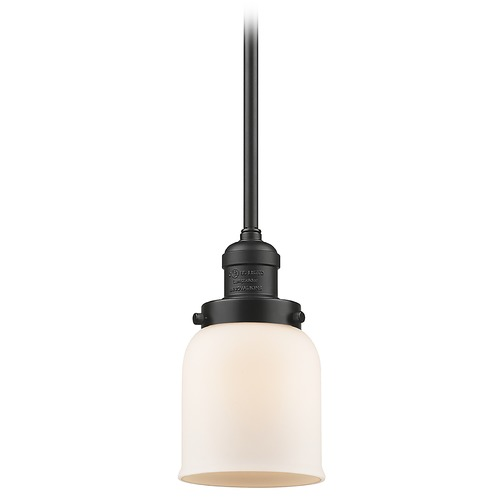 Innovations Lighting Innovations Lighting Small Bell Oil Rubbed Bronze Mini-Pendant Light with Bell Shade 201S-OB-G51