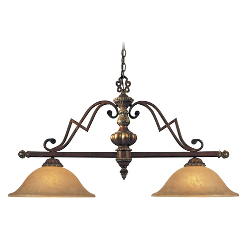 Minka Lavery Island Light with Beige / Cream Glass in Belcaro Walnut Finish 952-126