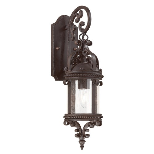 Troy Lighting Outdoor Wall Light with Clear Glass in Old Bronze Finish BCD9121OBZ
