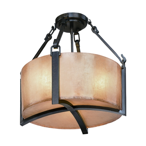 Troy Lighting Semi-Flushmount Light in Antique Bronze Finish C1740ABZ