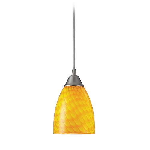 Elk Lighting Modern Mini-Pendant Light with Art Glass 416-1CN