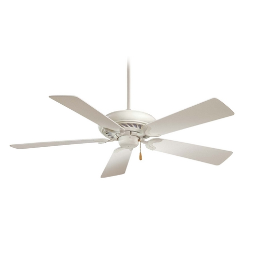 Minka Aire 52-Inch Ceiling Fan Without Light in Shell White Finish F568-SWH
