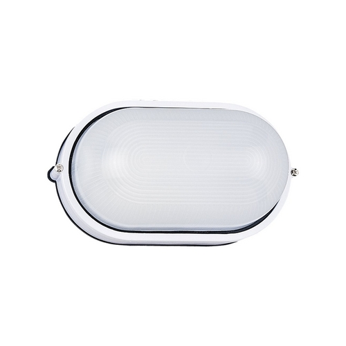 Sea Gull Lighting Modern Outdoor Wall Light with White Glass in White Finish 8925BLE-15