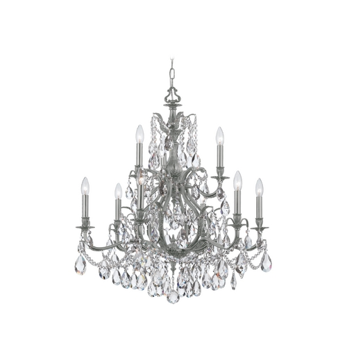 Crystorama Lighting Crystal Chandelier in Pewter Finish 5579-PW-CL-MWP
