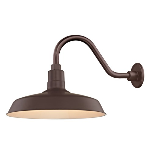 Recesso Lighting by Dolan Designs Bronze Gooseneck Barn Light with 16