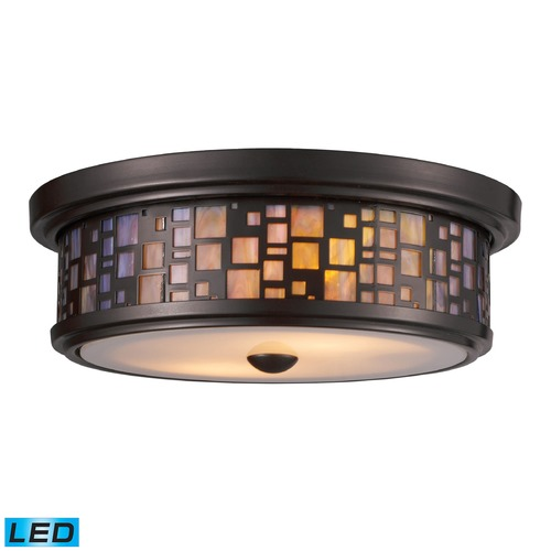 Elk Lighting Elk Lighting Tiffany Flushes Oiled Bronze LED Flushmount Light 70027-2-LED