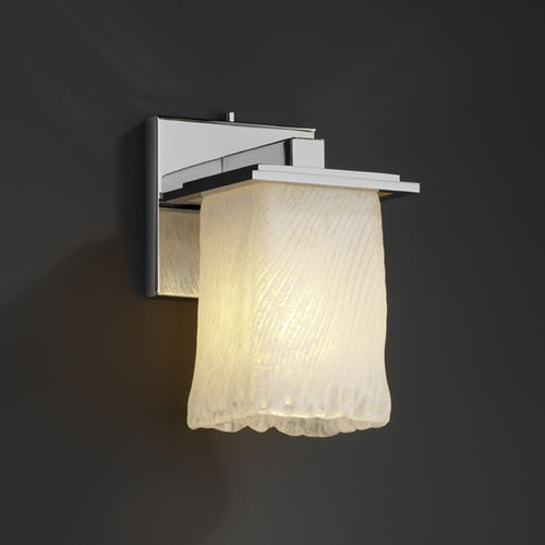 Justice Design Group Justice Design Group Veneto Luce Collection Sconce GLA-8671-26-WHTW-CROM
