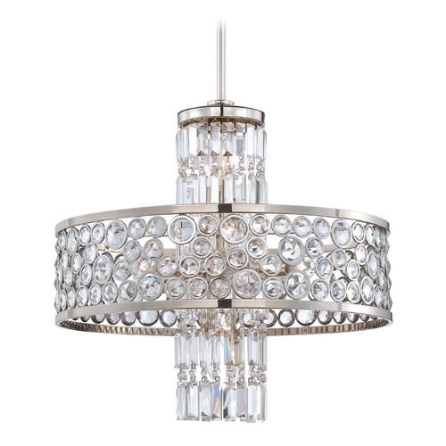 Metropolitan Lighting Crystal Chandelier in Polished Nickel Finish N6759-613