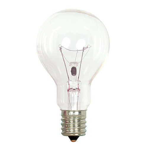 Satco Lighting Incandescent A15 Light Bulb Intermediate Base 2700K 120V by Satco S2744