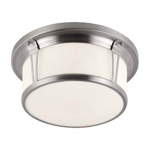 Feiss Lighting Feiss Lighting Woodward Brushed Steel Flushmount Light FM389BS
